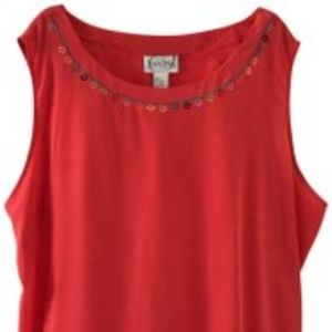 Diane Von Furstenberg Coral 100% Silk Top 3X